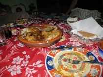 """Not tajine and not couscous"" meal at little Berber village"