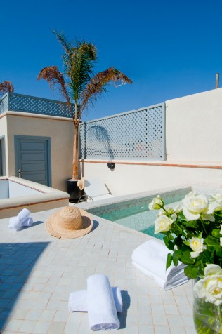 The private terrace and small pool.